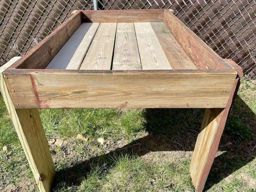 How I Made A Repurposed Elevated Raised Garden Bed